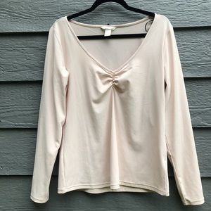 Peachy ripped pastel top